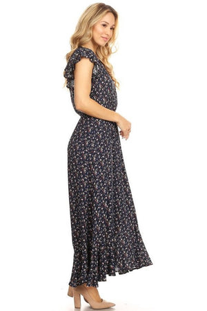 Navy Dainty Everyday Floral Maxi Dress