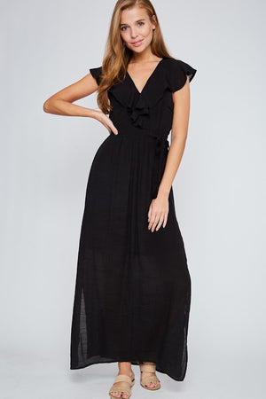 Let's Go Black Maxi Dress