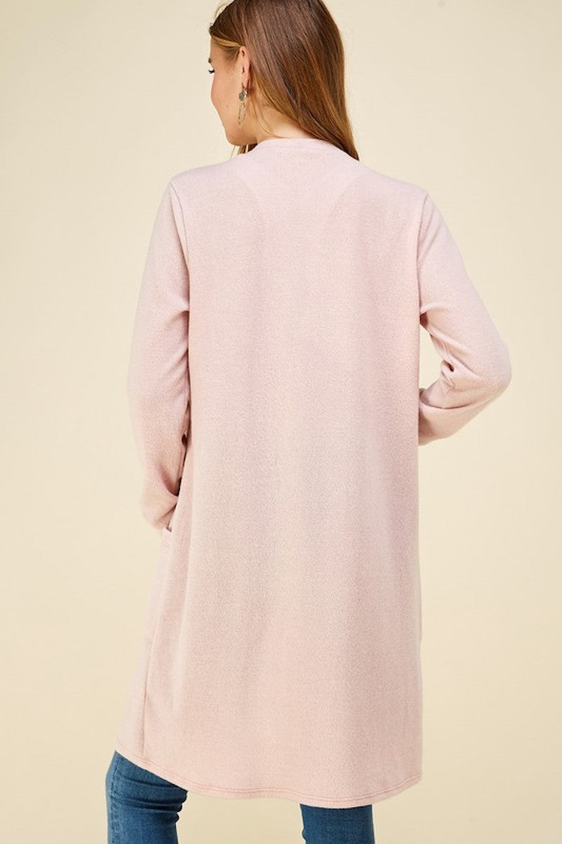 Soft Blush Pocket Cardigan