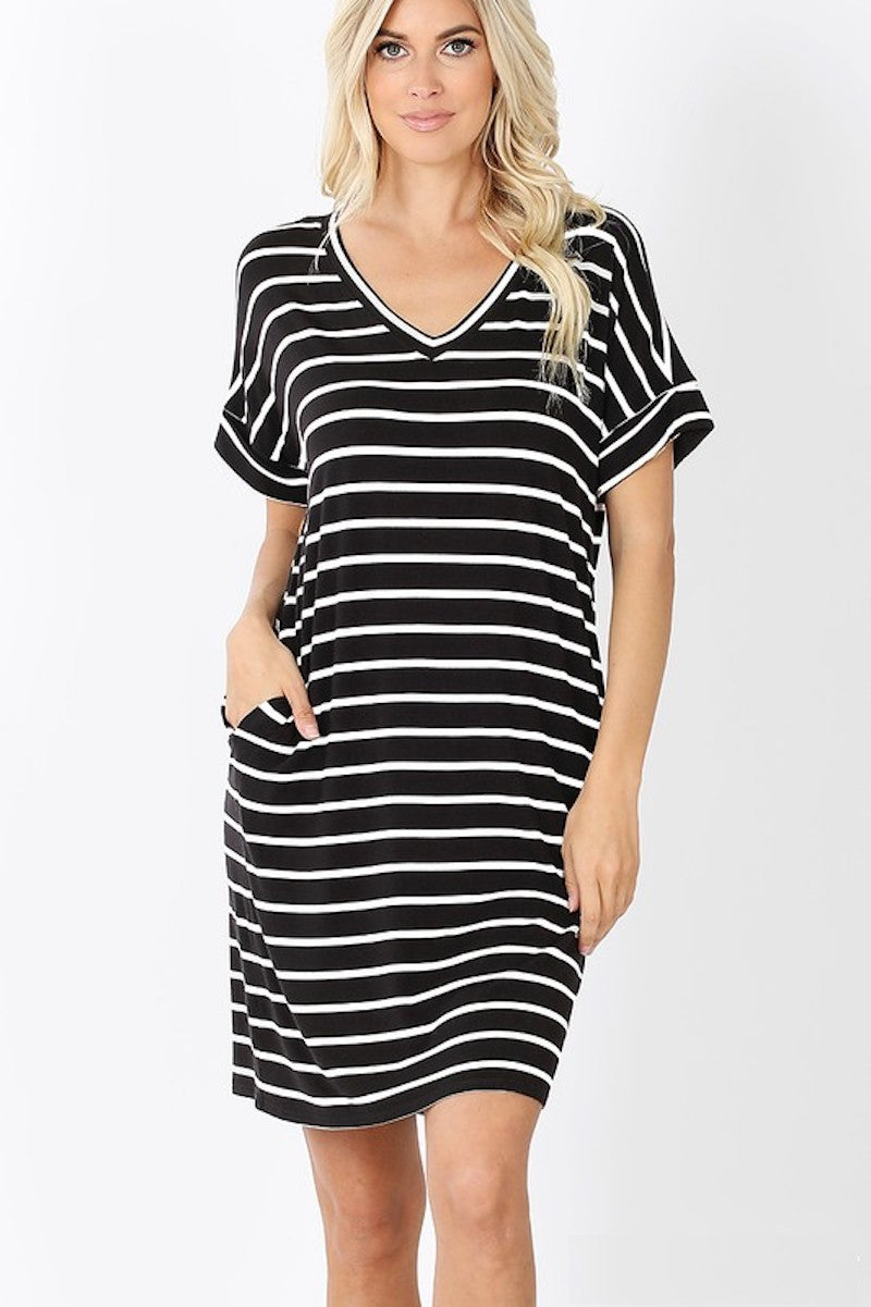 Everyday Pocket Stripes Dress