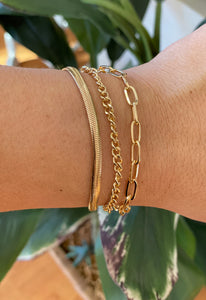 3 Layered Gold Bracelet