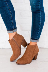 My Everyday Camel Booties