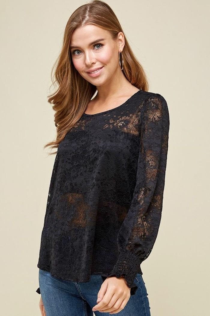 Lacey Blouse in Black