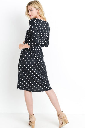 Black & White Polka Dot Midi