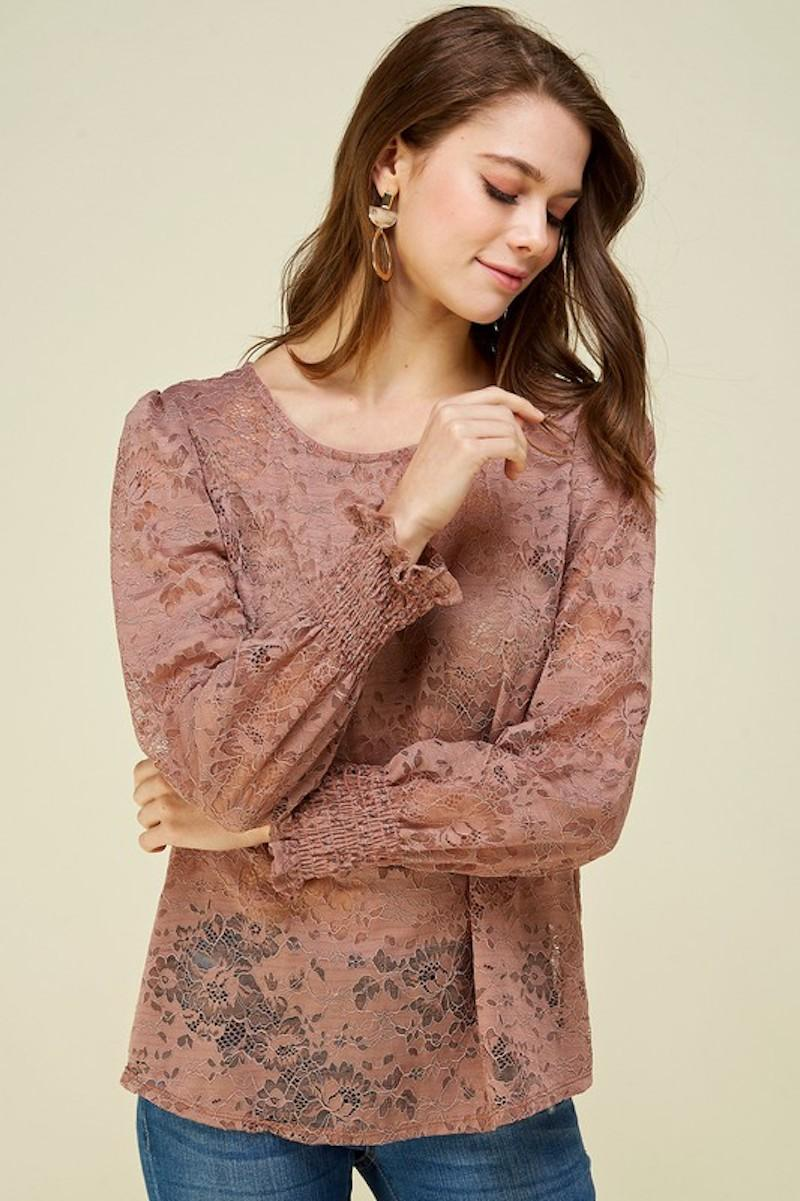 Lacey Blouse in Mauve