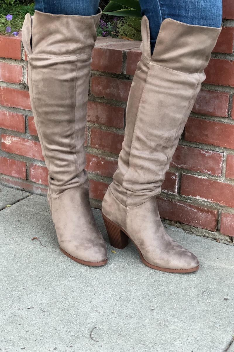 Taupe Heeled Boots