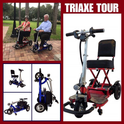 Triaxe Tour Folding 3-Wheel Mobility Scooter - from DT Scooters - from DT Scooters