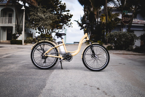 American Electric VELLER Step Thru Cruiser Electric Bike - from DT Scooters