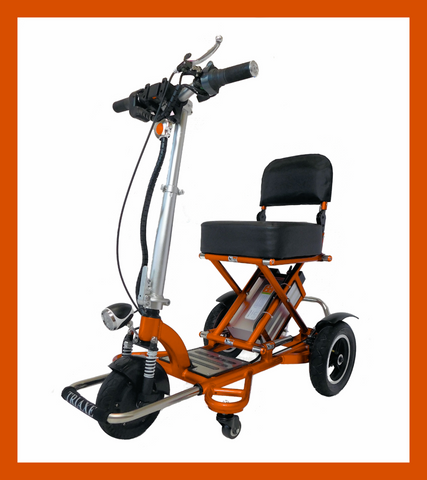 Triaxe Sport Folding 3-Wheel Mobility Scooter - from DT Scooters