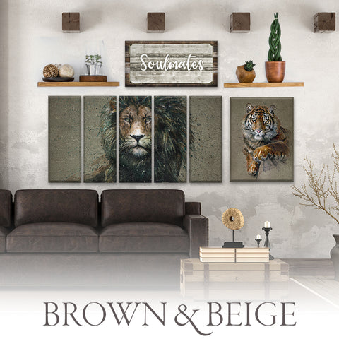 Brown & Beige