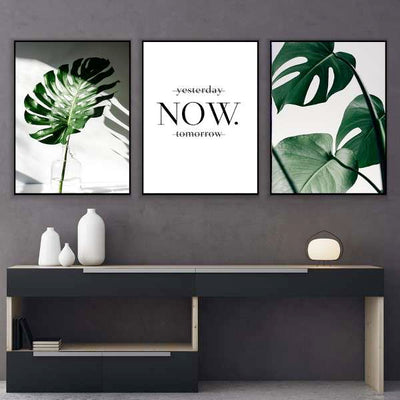 Green Motivation Canvas Set