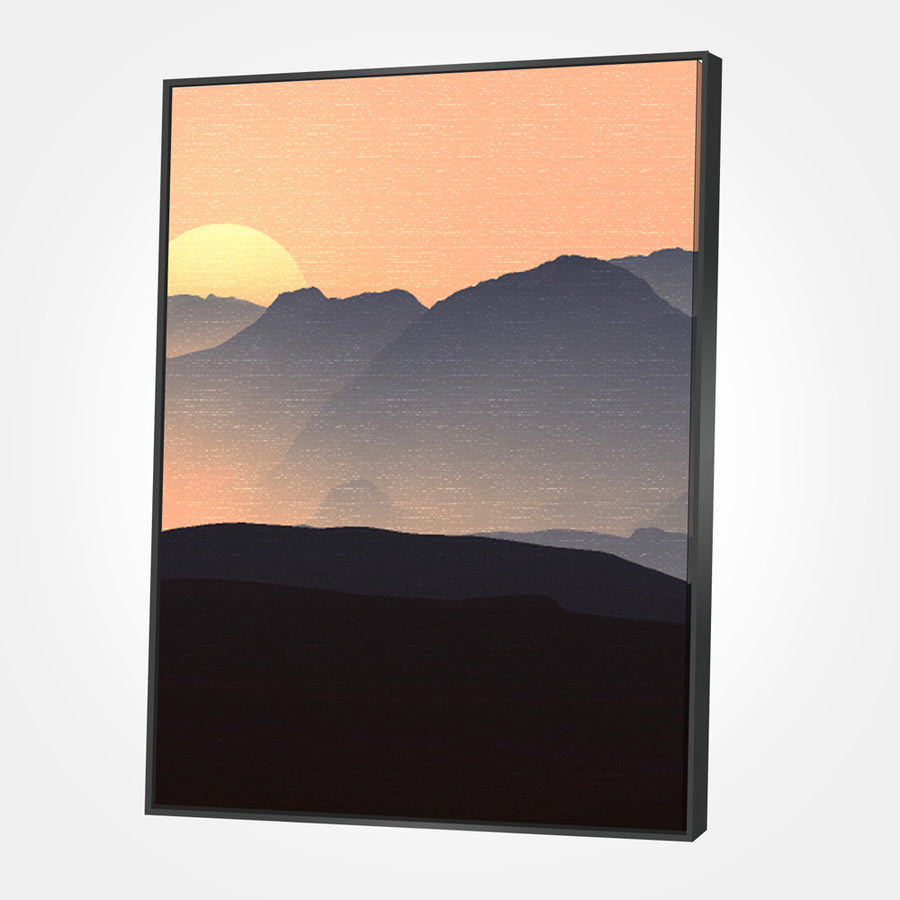 Evening Mountains Canvas Set