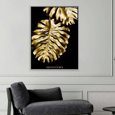 Golden Plant Canvas Set