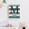 Baby Monogram Custom Canvas Set