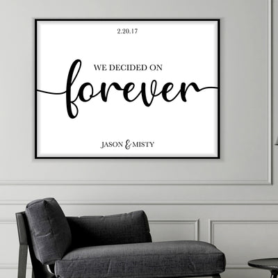 We Decided on Forever Custom Canvas Set