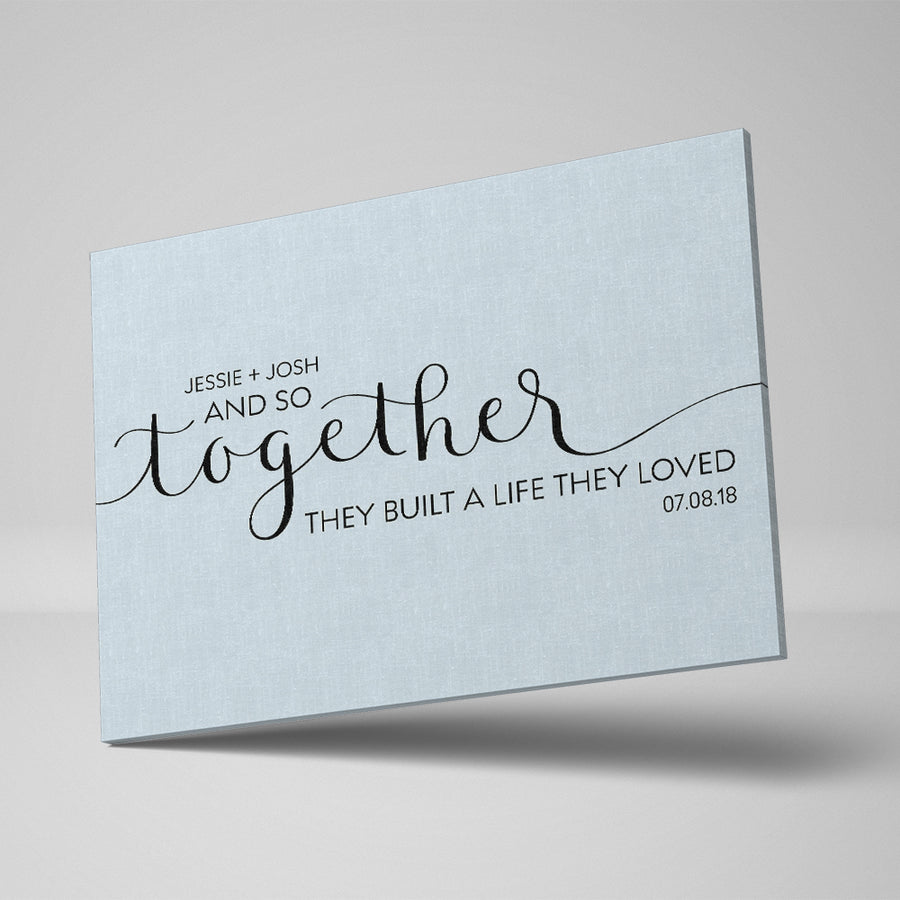 And So Together Custom Canvas Set