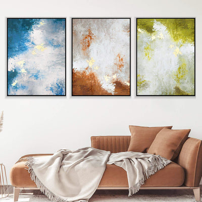 Abstract Blue Red and Green Canvas Set