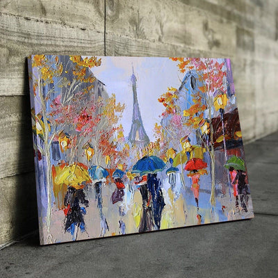 Abstract Eiffel Tower Canvas Set