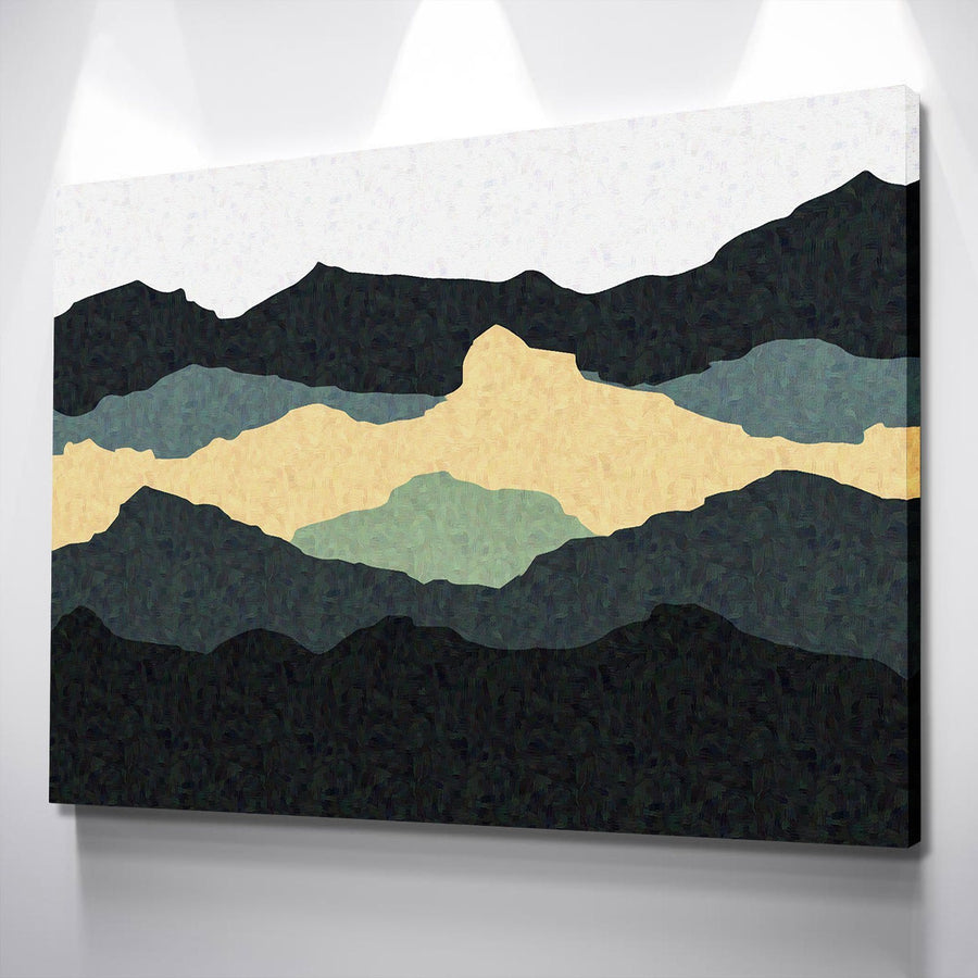 Abstract Mountains Canvas Set