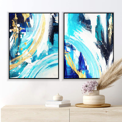 Azure Gold Canvas Set