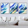 Blue Green Gold Canvas Set