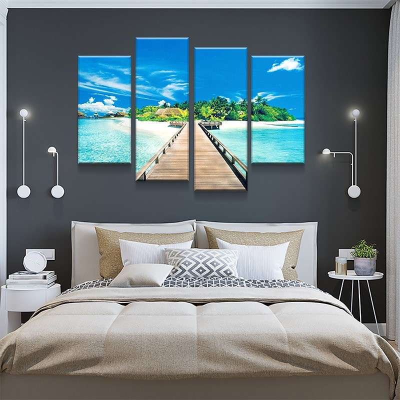 Bridge To Paradise Canvas Set