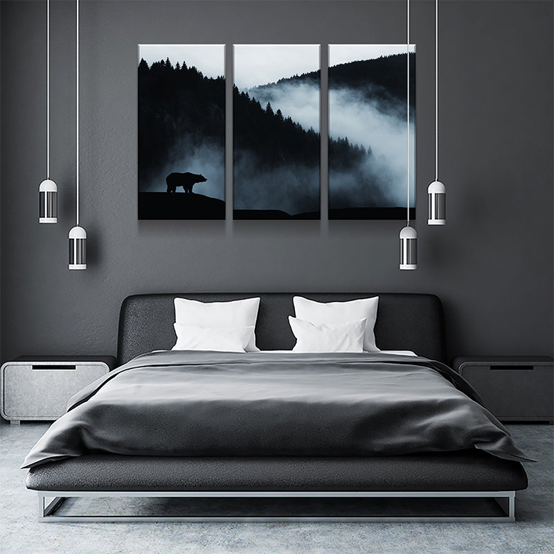 Grizzly Dusk Canvas Set