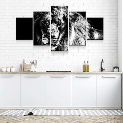 Lion Portrait Canvas Set