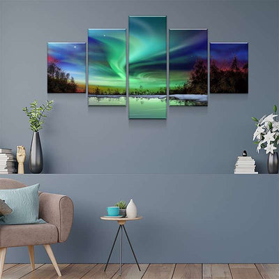 Northern Lights View Canvas Set