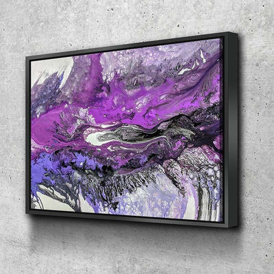 Purple Feather Canvas Set