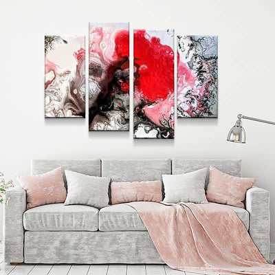 Red Tree Canvas Set