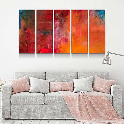 Strokes of All Colors Canvas Set