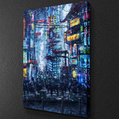 Cyberpunk City Canvas Set