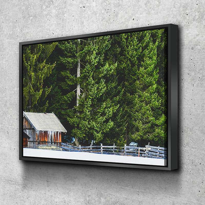 Winter Cabin Canvas Set