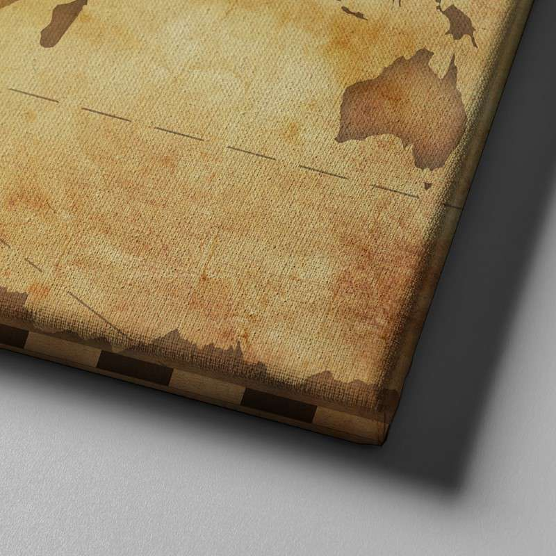 World Map No21 Canvas Set