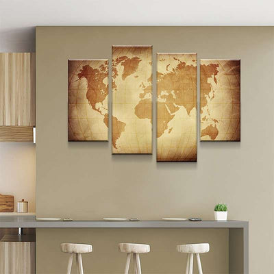 World Map No24 Canvas Set