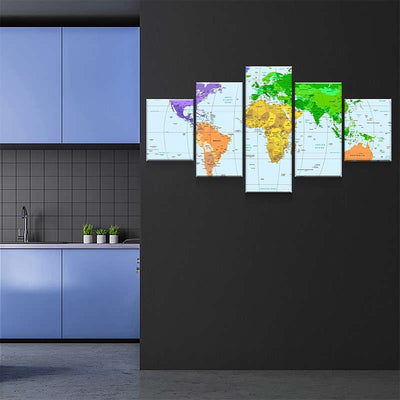 World Map No30 Canvas Set