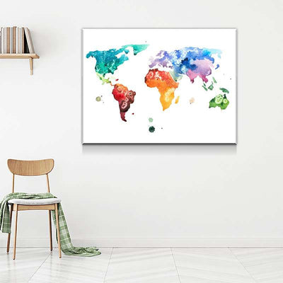 World Map No34 Canvas Set