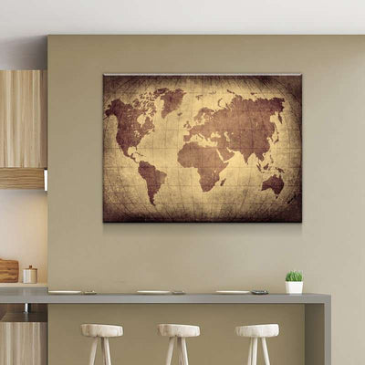 World Map No35 Canvas Set