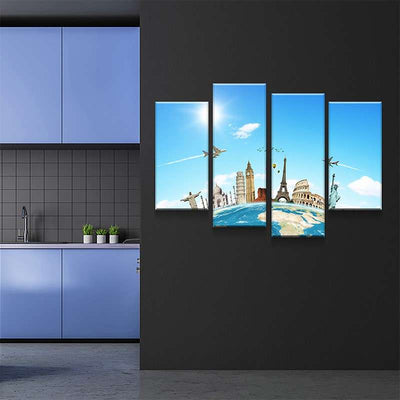 World Map No42 Canvas Set