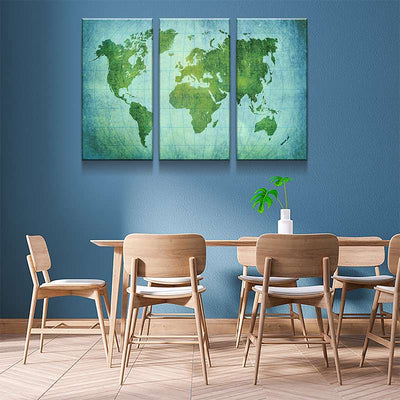 World Map No43 Canvas Set