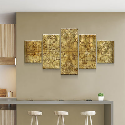 World Map No7 Canvas Set