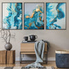 Abstract Tides Canvas Set