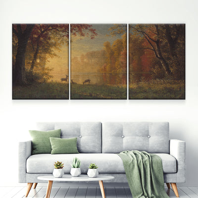 Deer Life Canvas Set