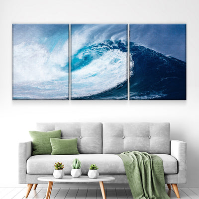 Atlantic Waves Canvas Set