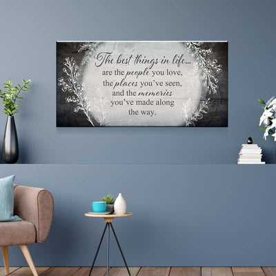 The Best Things In Life Canvas Set