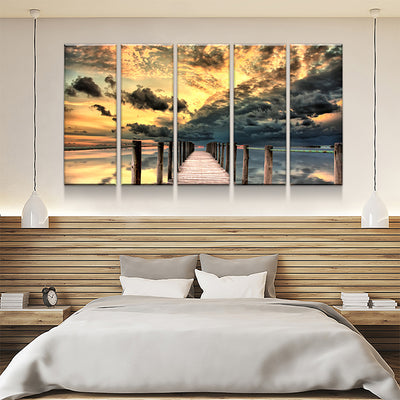 Dock Sunrise Canvas Set