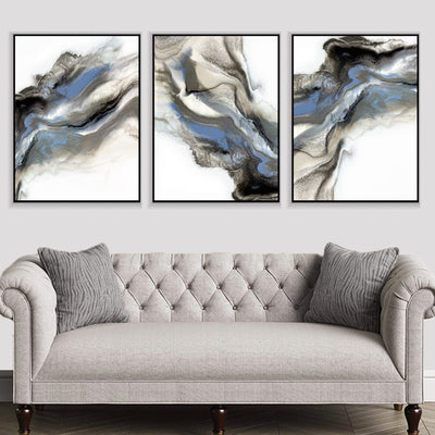 Grey Smoke Canvas Set
