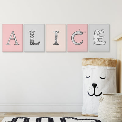 Build-A-Name Monochromatic Custom Canvas Set