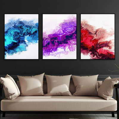 Rainbow Smoke Canvas Set